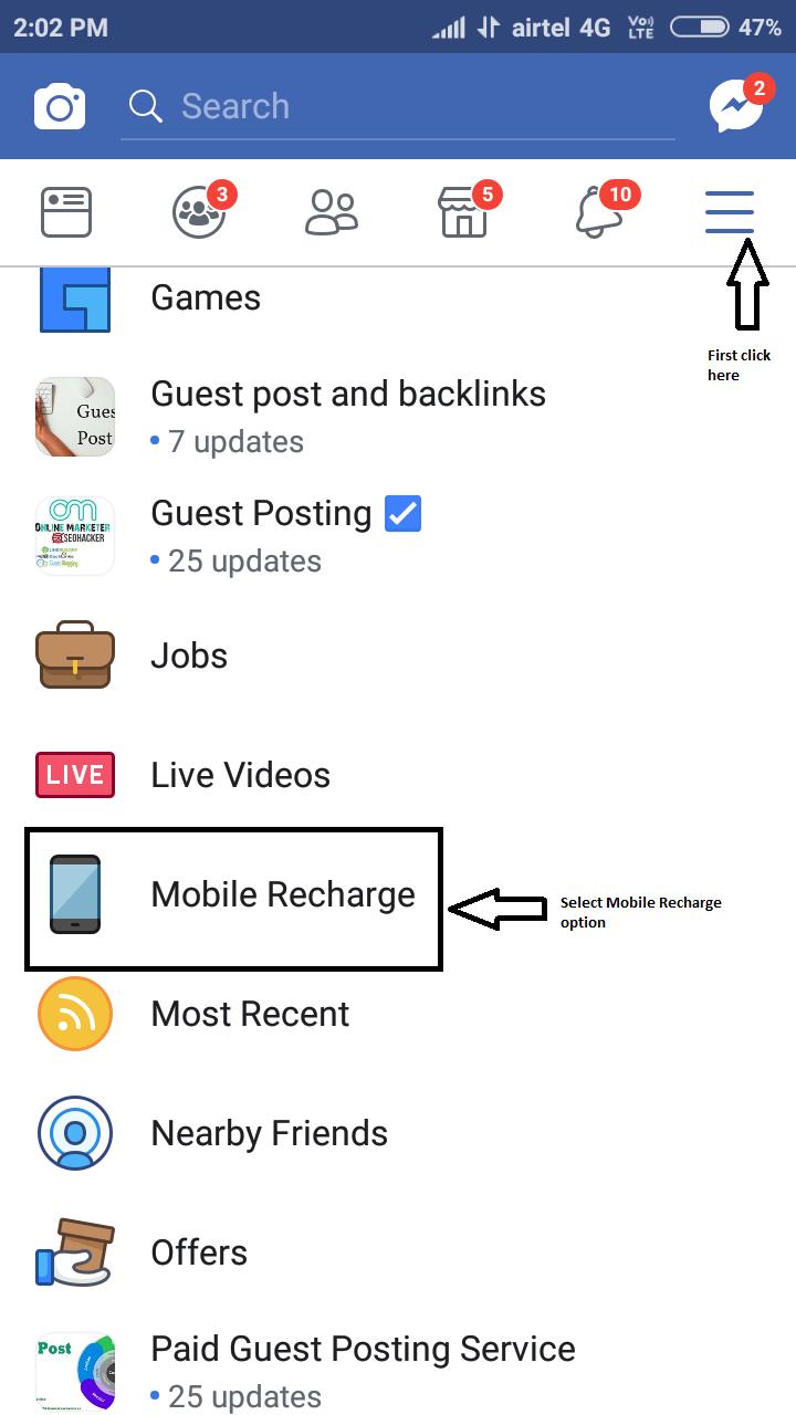 fb mobile rechagre