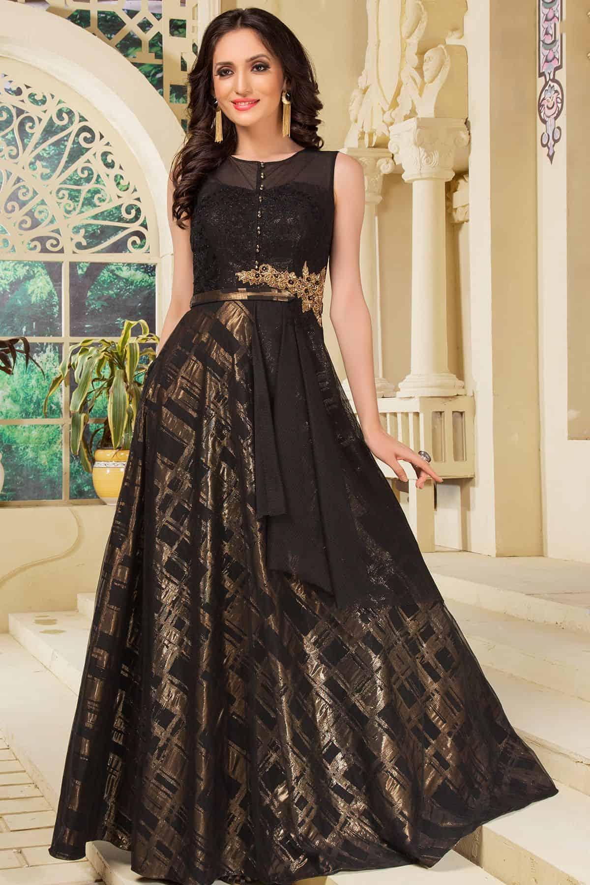 silk skirt with a plain black top