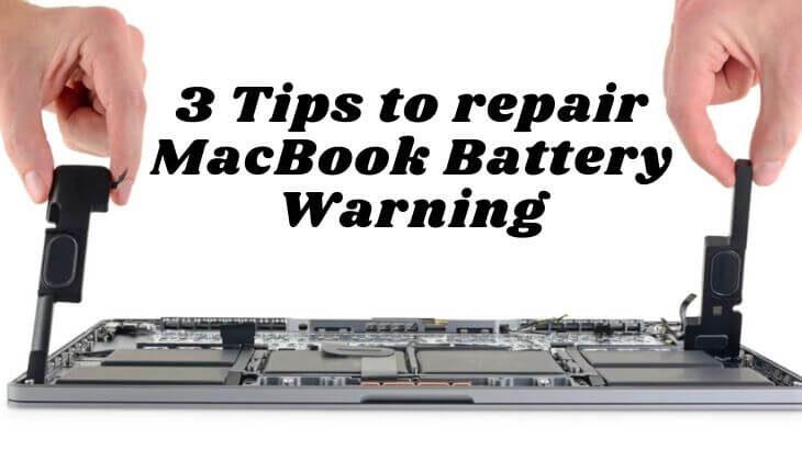 repair MacBook Battery Warning